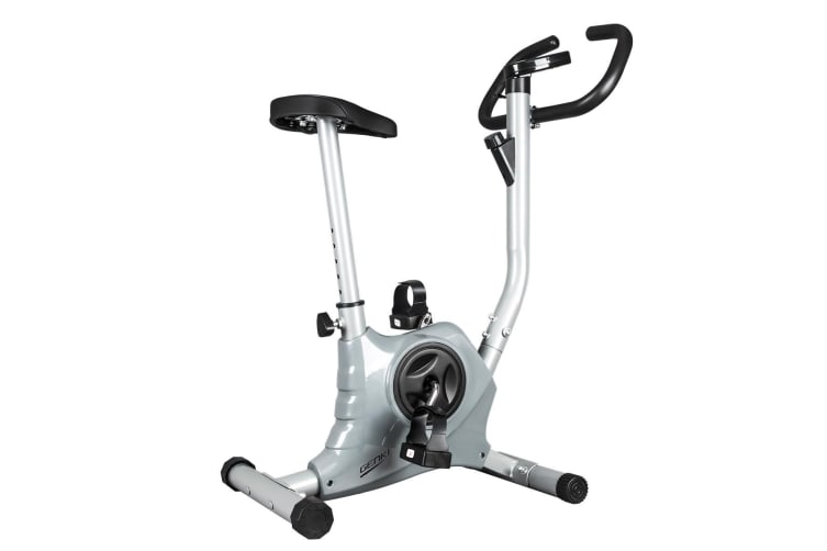 New Genki Excercise Spin Bike Upright Bike Cardio Equipment Grey