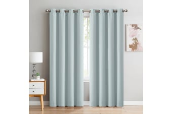 DreamZ Blockout Curtain Blackout Curtains Eyelet Room 102x213cm Mineral Green