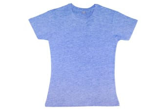 Nakedshirt Womens/Ladies Nancy Short Sleeve Cotton T-Shirt (Heather Blue Melange) (M)