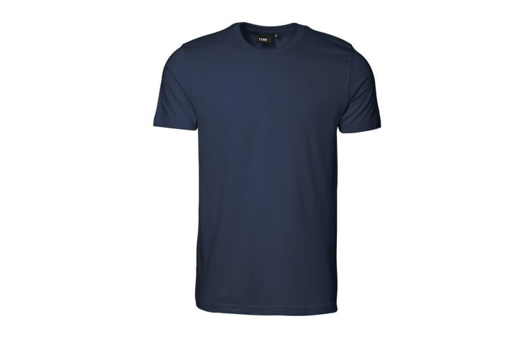 ID Mens T-Time Slimline Fitted Short Sleeve T-Shirt (Navy) (S)
