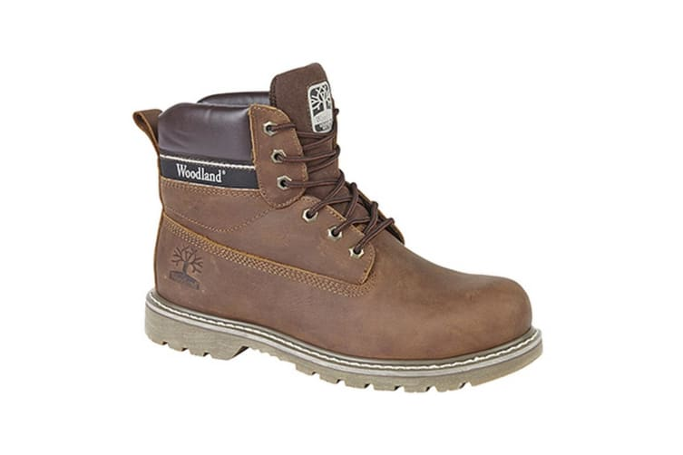 Woodland Mens 6 Eye Padded Utility Boots (Brown) (7 UK)