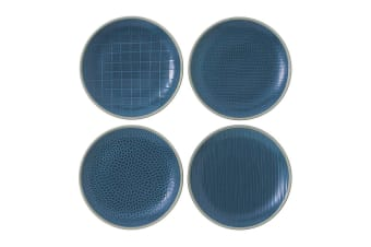 Royal Doulton Gordon Ramsay Maze Grill Plate 22cm Mixed Blue Set of 4