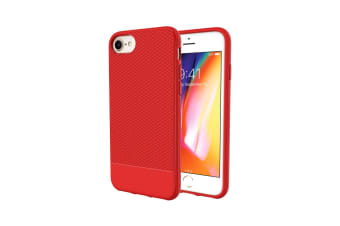 For iPhone 8 7 6 & 6S Case  Red Snap Armor Shock Proof Light Slim Phone Cover
