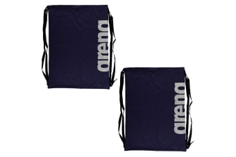 2PK Arena Fast Mesh Drawstring Backpack for Swimming Suits/Sports Training Navy