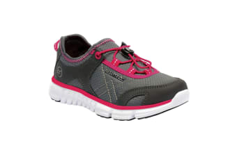 Regatta Great Outdoors Childrens/Kids Platipus II Lightweight Mesh Shoes (Granite/Duchess) (1 UK)