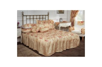 Maison Versailles Luxury Quilted Bedspread And Pillowshams Bedding Set (Multicoloured)
