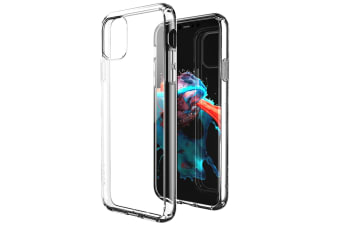 ZUSLAB iPhone 11 Case Tough Fusion Shock Absorption Rubber Bumper Protective Transparent Hard Back Clear Cover for Apple - Clear