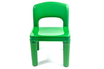 Kids Chair for Build Blocks LEGO Play Table - Green