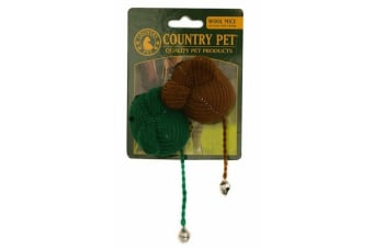 Country Pet Cat Toy (Wool Mice) (One Size)