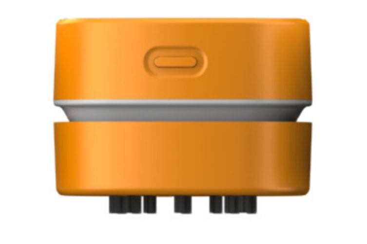 Select Mall Creative Portable Cleaner Home Smart Sweeping Robot Rechargeable Desktop Vacuum Cleaner-Orange