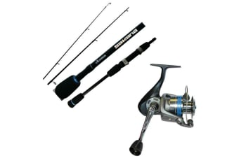 6'6 Okuma Sakana/Competition 6-14lb Fishing Rod and Reel Combo - 2Pce Spin Combo