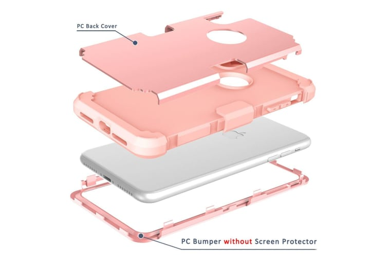 For iPhone XR Case Rose Gold Dropproof PC Silicone Protective Back Cover