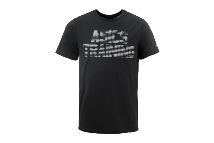 ASICS Men's Training Graphic Tee (Black, Size L)