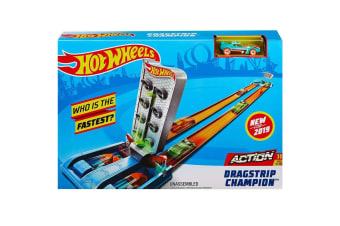 Hot Wheels Action Dragstrip Champion Playset