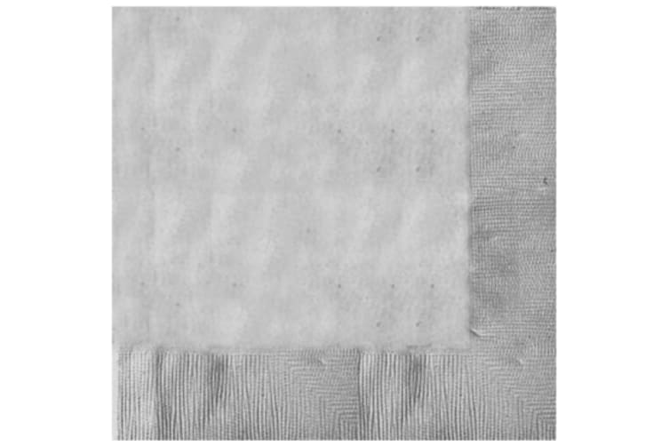 2Ply Pack of 20 x WHITE Paper Napkins