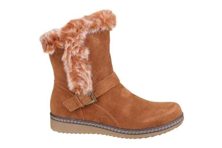 Fleet & Foster Womens/Ladies Budapest Buckle Detail Boots (Tan) (4 UK)