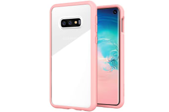 ZUSLAB Galaxy S10e Tough Fusion Case Shockproof with Transparent Back Cover for Samsung - Pink