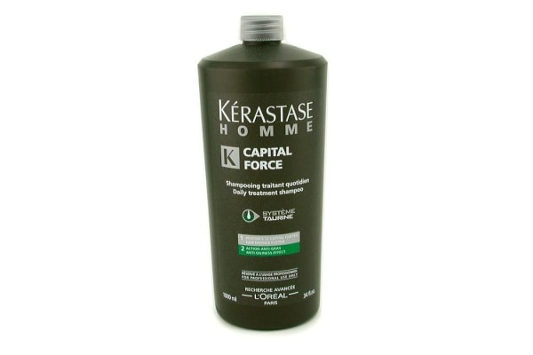 Kerastase Homme Capital Force Daily Treatment Shampoo (Anti-Oiliness Effect) (1000ml/34oz)