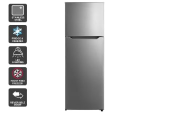 Kogan 372L Top Mount Fridge - Stainless Steel
