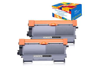 2pc Compatible TN2250 Toner Cartridge for Brother MFC-7860DW MFC-7362N MFC--7360