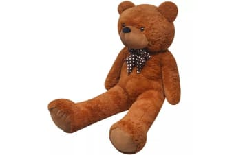 vidaXL XXL Soft Plush Teddy Bear Toy Brown 175 cm