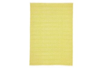 Villa Modern Diamond Rug Yellow 220x150cm