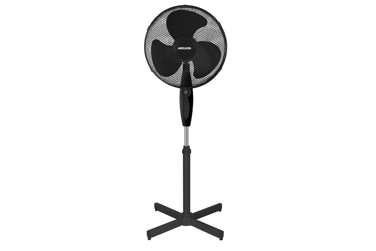 Image of Heller 40cm Pedestal Fan with Remote - Black (HF40BRG)