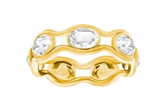 Swarovski Fragment Gold Ring (Size 7)