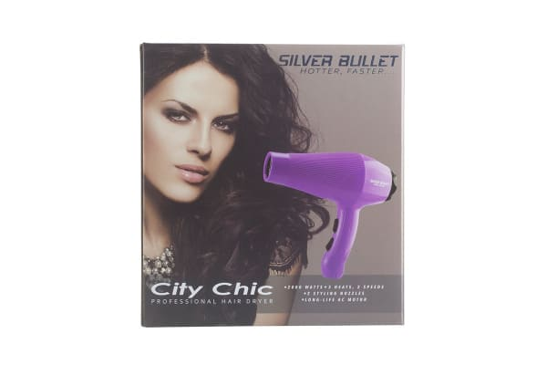 Silver Bullet City Chic 2000W Hair Dryer - Lilac  (900667)