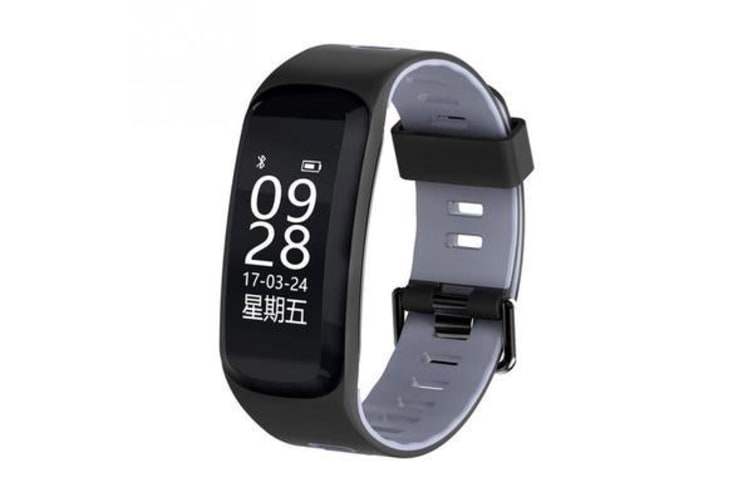 "Bluetooth V4.0 Smart Watch 0.96"" Oled Heart Rate Blood Oxygen Gps Ip68 Grey"
