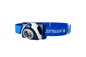LED LENSER SEO 7R Headlamp Rechargeable Head Torch 220 Lumens BLUE