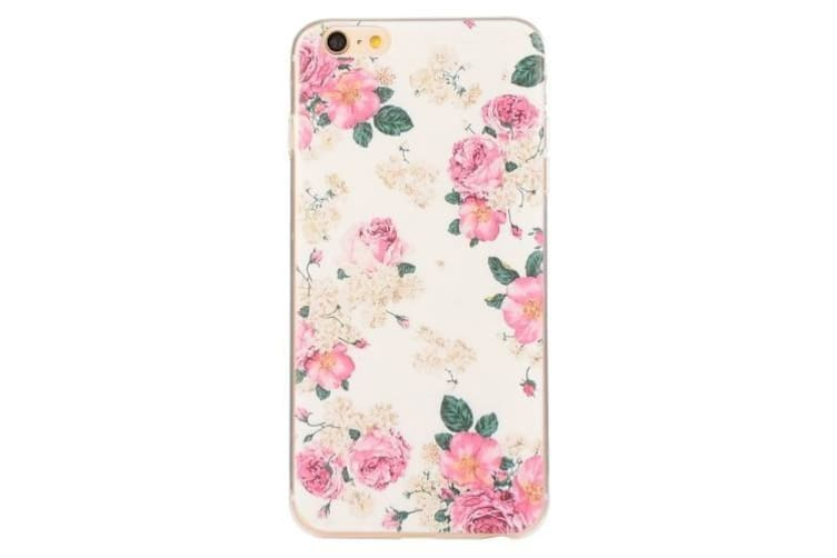 For iPhone 6S PLUS 6 PLUS Case Modish Colourful Flowers Pattern Protective Cover