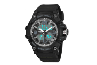Sports Watch Multifunctional Men'S Waterproof Electronic Watches Black