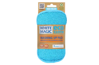 White Magic Microfibre Washing Up Pad - Sea Blue