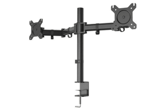 "Huanuo HN-MBD1-U1 Dual Arm Monitor Mount C-Clamp FITS 13"" to 27""VESA 75 x 75mm"