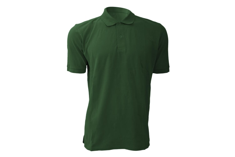 Russell Mens 100% Cotton Short Sleeve Polo Shirt (Bottle Green) (M)