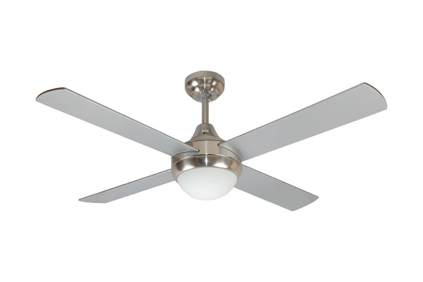 Mercator Glendale 1200mm Ceiling Fan with Light - Brushed Chrome (FC182124WH)