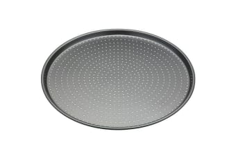 Mastercraft 32cm Round Carbon Steel Crusty Bake Pizza Oven Baking Tray Pan Plate