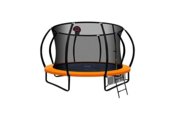 Everfit 12FT Trampoline Mat with Basketball Hoop (Orange)