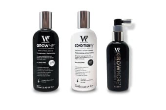 Watermans Grow Me Shampoo Conditioner Elixir Pack Full Hair Growth Anti Loss Kit