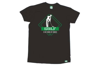 Out Of Bounds Golf Tee - Golf Is My D Choice - (XX-Large Black Mens T Shirt)