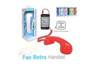 Sansai Fun Retro Handset for iphone Supplied with a 3.5mm plug Call Comfort
