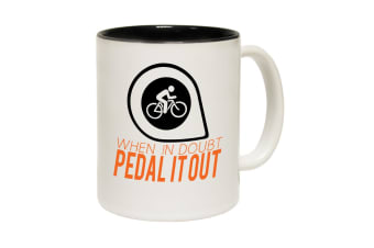 123T Funny Mugs - Whendoubt Pedal - Black Coffee Cup