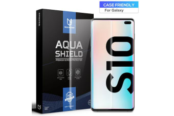 2x Galaxy Note 10 Screen Protector, MaxShield Aqua Crystal for Samsung