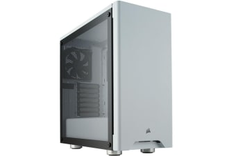 Corsair Carbide 275R White Edition ATX MidTower Gaming Case Tempered Glass with CPU Cooler Supports