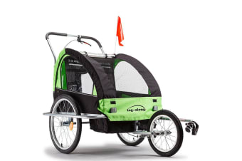 NEW Tag-along Kids Bike Trailer Bicycle Pram Stroller Children Jogger Green
