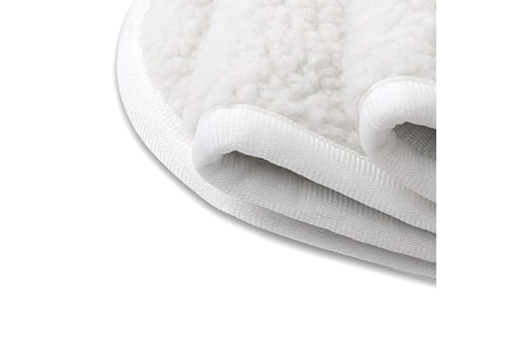 Royal Comfort Fleecy Electric Blanket Warm Heated Fully Fitted 9 Settings - Single - White