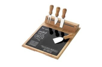 Symphony Bon Appetit 6pc Cheese Board & Knife Set Magnetic Strip
