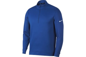 Nike Mens Therma Repel Half Zip Golf Top (Game Royal Blue/White)