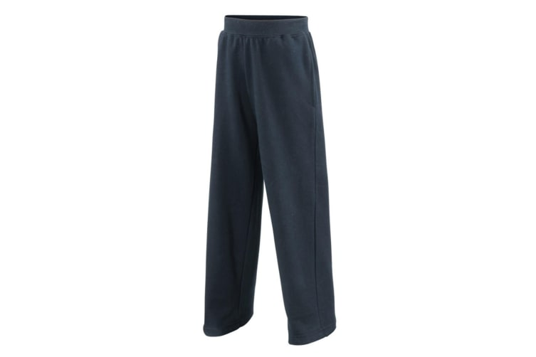 Awdis Childrens Unisex Jogpants / Jogging Bottoms / Schoolwear (Pack of 2) (New French Navy) (7-8)